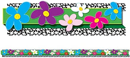 Carson Dellosa Education   Flowers Bulletin Board Borders   3D, 8 Strips, 24ft (108051)