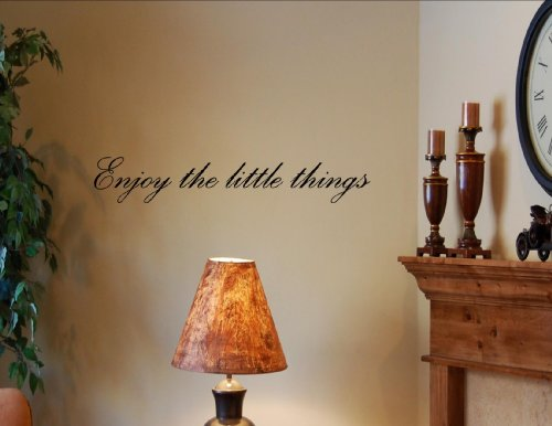 ENJOY THE LITTLE THINGS Vinyl wall quotes Inspirational sayings home art deco…