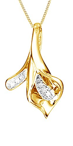 calla-lily-natural-diamond-pendant-in-10k-solid-yellow-gold