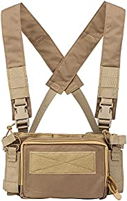 Camouflage Tactical Vest Airsoft Ammo Chest Rig 5.56 9mm Magazine Carrier Combat Tactical Military
