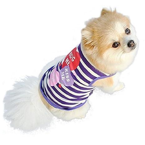 12 Culater/® Mascotas ropa para perros gato Primavera Verano Peque/ño Ropa Chaleco