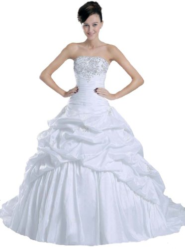 Faironly New White Bride Wedding Dress ,Size|L