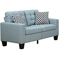Furniture World Aston Love Seat, Turquoise