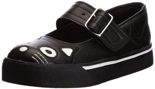 TUK Punk Teddy Mary Jane Sneaker - Zapatillas de Deporte de material sintético Mujer negro