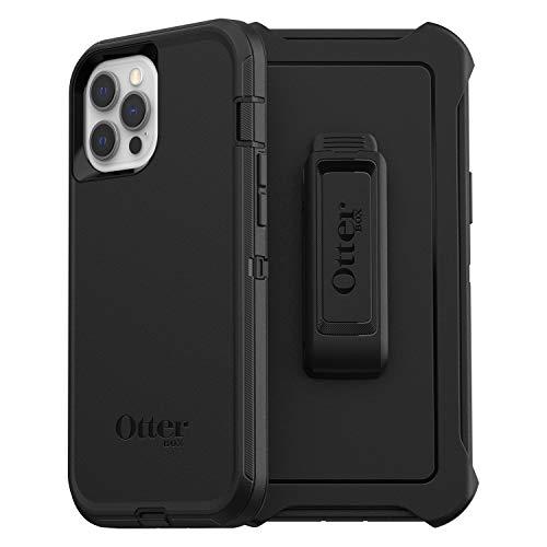 OtterBox Defender funda robusta anticaídas para Apple iPhone 12 Pro Max Negra, sin embalaje