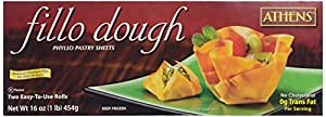 Athens, Phyllo Pastry Sheets 2 Count Fillo Dough, 16 oz (Frozen)