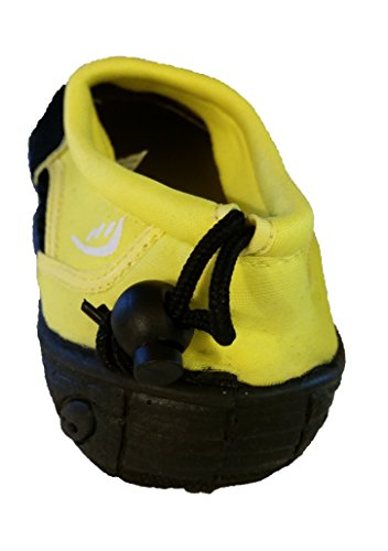 Easy USA Mens Wave Water Shoes - Black and Yellow (7) GgTNrfTGZ