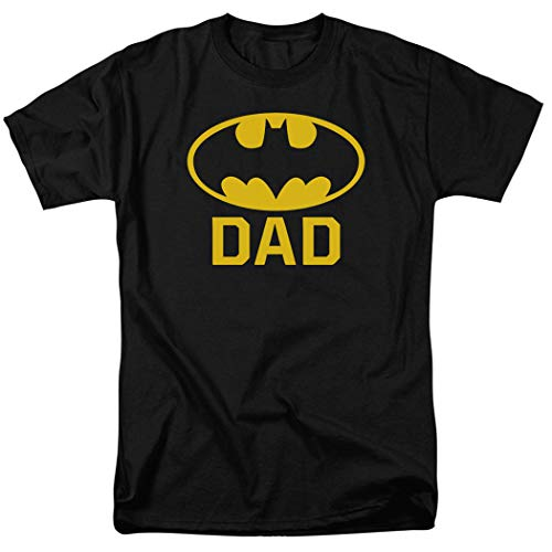 Batman Batdad Classic Logo for Fathers and Dads T Shirt & Stickers (Large) Black