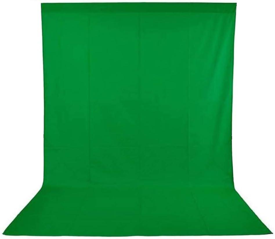 Andoer Croma Verde,1,6 x 3 m Telón de Fondo Fotografía, Tela Verde Lavable para Estudio Virtual Producción de Película Juegos(5 x 10 ft)