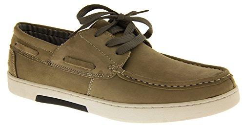 Footwear Studio - Náuticos para hombre gris - Stone (Beige/Natural)