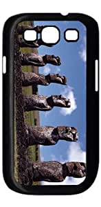 Easter Island Modern HD image case for Samsung Galaxy S3 I9300 black + Card Sticker