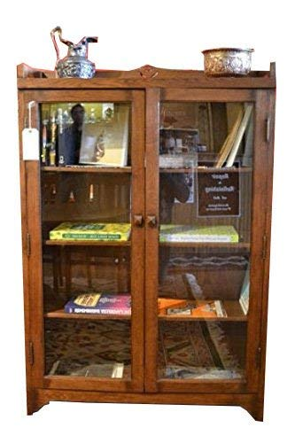 (Crafters and Weavers Arts and Crafts Mission Solid Oak Bookcase China)