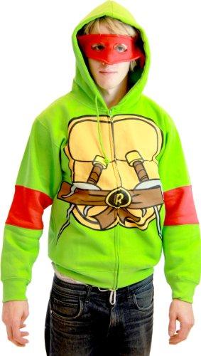Teenage Mutant Ninja Turtles - Raphael Costume Zip Hoodie - Large