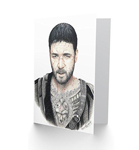 Wee Blue Coo LTD Wayne Maguire Tattooed Gladiator Maximus Inked Ikon Greetings Card (Gladiator Card)
