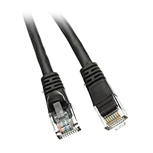 C&E 4 Pack Cat6 Snagless/Molded Boot Ethernet Patch Cable 2 Feet Black, CNE484223