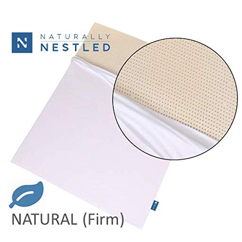 100% Natural Latex Mattress Topper - Firm - 2 Inch - Queen Size - Cotton Cover Included.