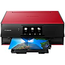 Canon TS9120 Wireless All-In-One Printer with Scanner and Copier: Mobile and Tablet Printing, with Airprint(TM) and Google Cloud Print compatible, Red