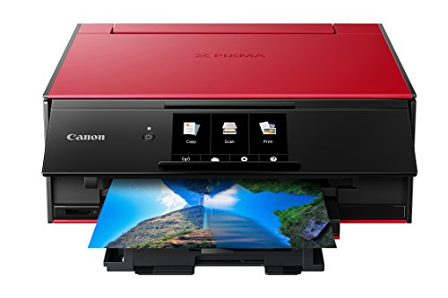 Canon TS9120 Wireless All-In-One Bluetooth Printer with Scanner and Copier: Mobile and Tablet Printing, with Airprint(TM) and Google Cloud Print compatible, Red by Canon