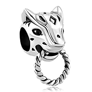 LilyJewelry Panther Animal Puma Cougar Charm Bead for Bracelet