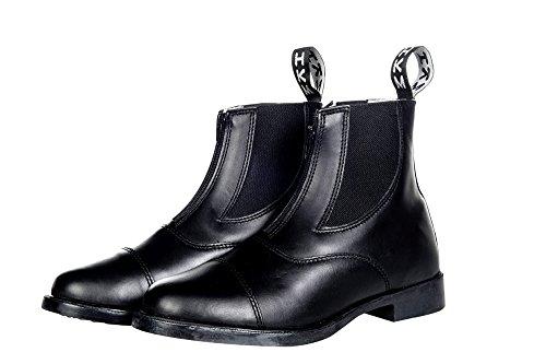 HKM Jodhpurschuh mit Elastikeinsatz und Reißverschluss, schwarz, 44