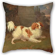 Artistdecor Oil Painting William Webb - A Blenheim Spaniel Cushion Cases 20 X 20 Inches / 50 By 50 Cm Gift Or Decor For Kids Room Wife Boy Friend Kids Boys Teens Pub - Two Sides