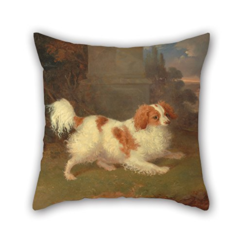 Oil Painting William Webb - A Blenheim Spaniel Throw Cushion Covers 20 X 20 Inches / 50 By 50 Cm For Deck Chair,son,teens Girls,bedding,home Theater With Twice Sides