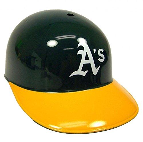 Jarden Sports Licensing Rawlings Official MLB Replica Baseball Team Helmets; Oakland Atheletics