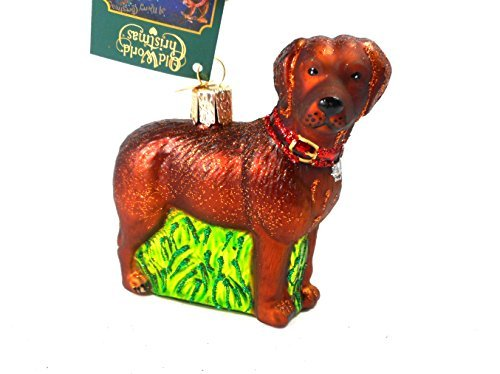 Old World Christmas Standing Chocolate Lab Glass Blown (Chocolate Ornaments)
