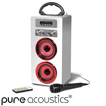 מסודר Pure Acoustics MCP-20 Portable Multimedia Karaoke: Amazon.co.uk KQ-42