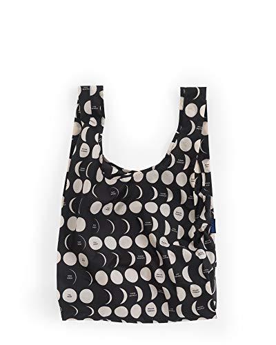 BAGGU Standard Reusable Shopping Bag, Eco-friendly Ripstop Nylon Foldable Grocery Tote, Moon