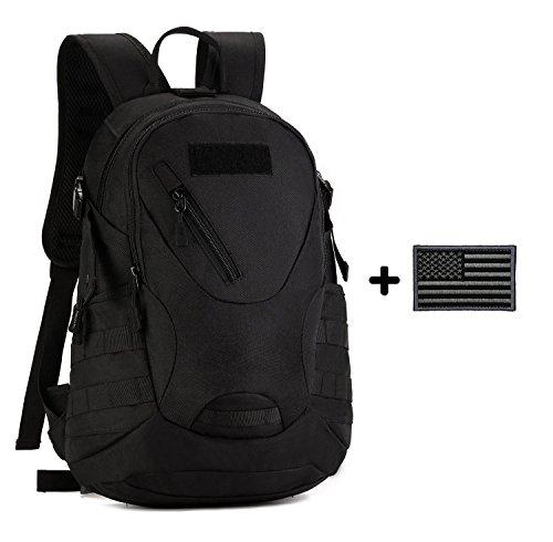 ArcEnCiel 20L Men Tactical Bags Men Travel Bags Ultralight Hunting Range Soldier Ultimate Stealth Heavy Duty Carrier Backpack Waterproof with Patch by ArcEnCiel