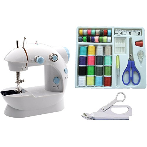 Michley Mini Sewing Machine & Accessories 3-Piece Value Bundle (Michley Lil Sew & Sew Mini Sewing Machine)