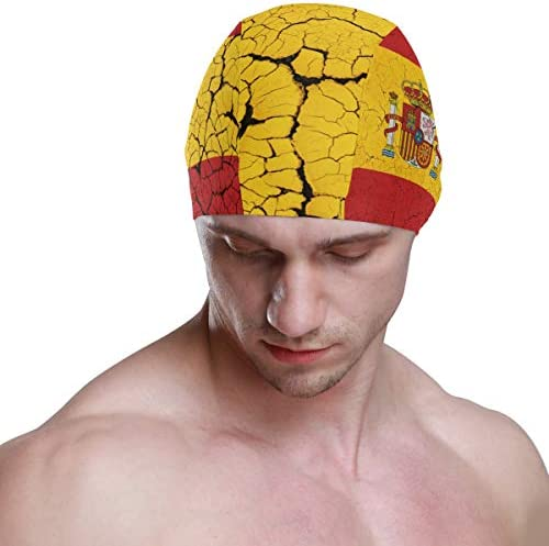 Alinlo Gorro de natación con diseño retro de la bandera de España ...
