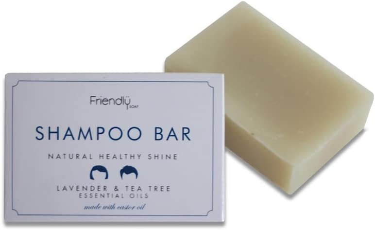Friendly Soap Shampoo Bar Lavender and Tea Tree, 1 Pack (1 x 95g)