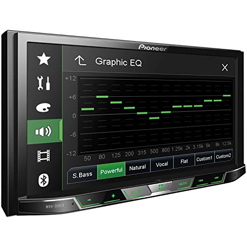 "Pioneer MVH-300EX Double Din Digital Multimedia Video Receiver with 7"" WVGA Touchscreen Display Built-in Bluetooth"