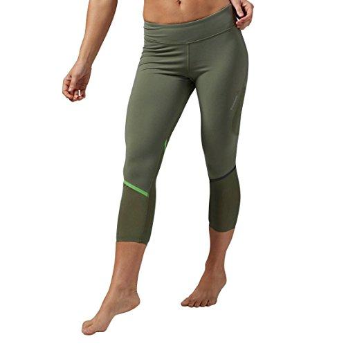 Reebok Pantalon de sport Cardio Capri, canopy Green, XS, aj1134