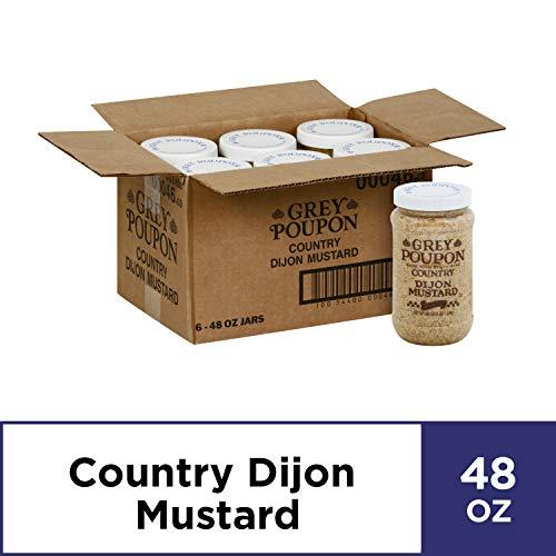Grey Poupon Country Dijon Mustard (48 oz Jars, Pack of 6)
