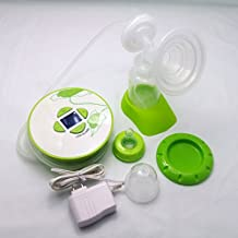Gland Single Electric Breast Pump Breastfeeding Pump for Nursing Moms BPA Free, Green, with LCD Display, Bowl Shape Compact Design