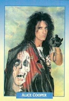 (Alice Cooper trading Card (Alice Cooper) 1991 Brockum Rockcards #140)