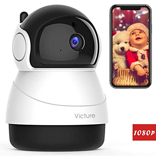 Victure FHD 1080P IP WiFi Camera Home Wireless Security Camera Romote Monitor Home Surveillance with 2-Way Audio with Night Vision Motion Detection for Baby / Pet / Elder