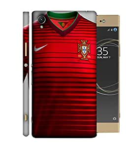 ColorKing Football Portugal 05 Red shell case cover for Sony Xperia XA1 Plus