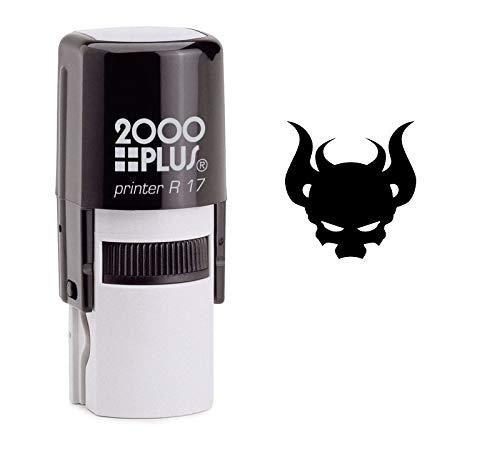 - StampExpression - Devil Skull Self Inking Rubber Stamp - Black Ink (A-6603)