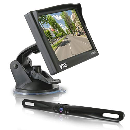 Pyle Car Backup Camera Rearview Mirror Screen | Reverse Parking Sensor | HD 7″ LCD Screen Monitor | Distance Scale Line | Waterproof | Night Vision | 170 Wide Angle Lens | Swivel Angle Adjustable Cam