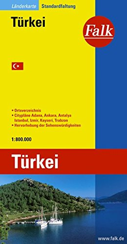 Falk Länderkarte Türkei Gesamt 1:800.000
