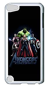 iPod Touch 5 Case, iPod 5 Case - Highly Protective White Hard Back Case Cover for iPod 5 The Avengers Anti-Scratch Hard Case Cover For iPod Touch 5