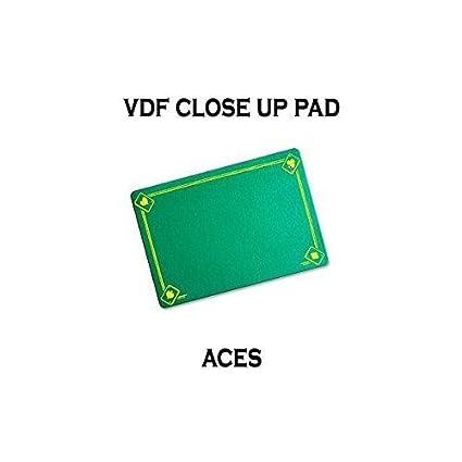 VDF Close Up Pad with Printed Aces by Di Fatta Magic Black