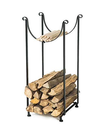 LITHER New Year Deals Sling Indoor Fireplace Firewood Rack, Hearth Storage Rack, High 34inch Vertical Storage Design (Fireplace Designs 2016)