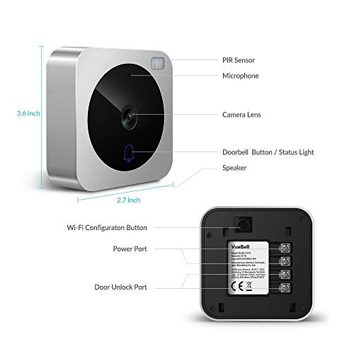 Video Doorbell, NETVUE Wireless Doorbell Camera with Two-Way Talk, IR Motion Detection, Night Vision, Compatible with Alexa Echo Show, Wifi Camera Doorbell with Cloud Storage [Wall Plug Included] (A) by NETVUE (Image #7)
