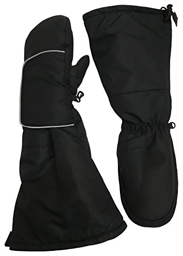 Easy Mittens (N'Ice Caps Kids Thinsulate Easy On Velcro Wrap Mittens with Elbow Length Cuff (2-3yrs, Black))