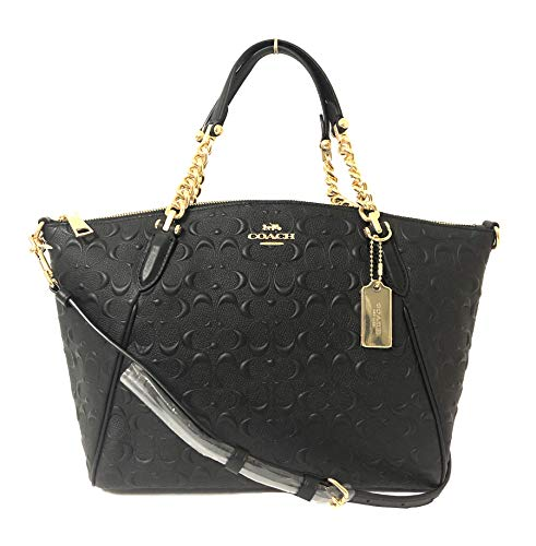 Coach Leather Small Kelsey Cross Body Bag (Small, IM/Black Chain)